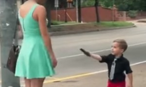 Watch this 4-year-old ladies man, who shows no fear while asking girls' for their number
