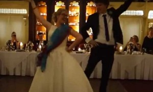 Watch this super cute British Couple dancing on Bollywood number 'London Thumakda' at their wedding