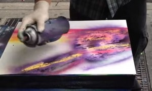 See this amazing street art, beautiful painting with spray colours