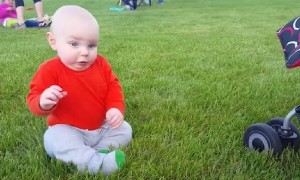 How Babies Reacts to Grass!