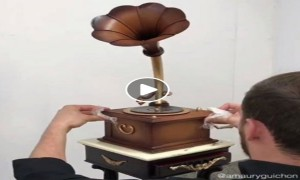 This Gramophone Is Actually Made Of Chocolate Completely!