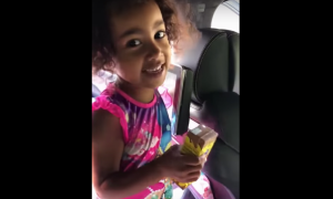 Must Watch How Cutely North West Is Singing Kanye West's Song