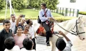 Bengaluru Techie Rides Horse To Work On Last Day