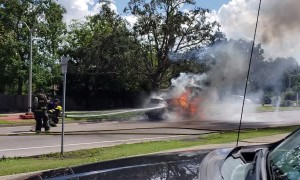 Toyota RAV4 Bursts into Flames