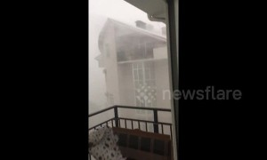 Extreme high winds blast through Krasnodar, Russia