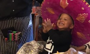 Adorable Boy is EXCITED for His Birthday Song!