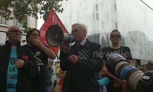 John McDonnell MP addresses demonstrators at fast food works 'McStrike'