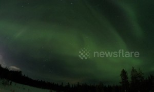 Stunning timelapse of Northern Lights in Lapland