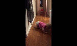 Tears before bedtime: toddler's attempt at fistbump fails spectacularly