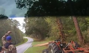 Deputy stuns man pulled over on stolen tractor