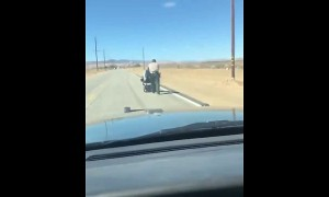Wheelchair runs out of power? LASD comes to the rescue!