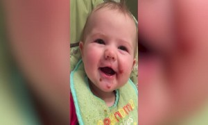 Baby Makes Cutest Faces When Trying New Food