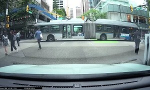 Transit Bus Hits Jaywalker