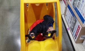 Baby Takes a Nap in His Toy Car – So CUTE