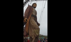 Giant puppets take over Liverpool