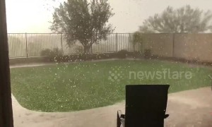 Storm brings pea-sized hail to Phoenix, Arizona suburb