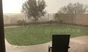 Storm brings pea-sized hail to Phoenix, Arizona suburb