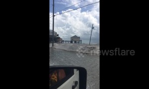 Flooding starts in Gulf towns two days before Hurricane Michael makes landfall