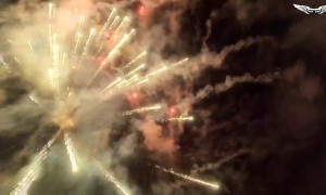 This is what it's like to fly through fireworks