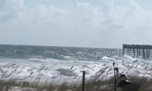 Strong waves slam Florida beach as Hurricane Michael nears