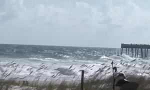 Strong waves slam Florida beach as Hurricane Michael nears