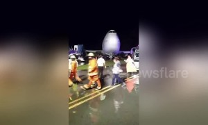 Passengers rescued from Boeing 747 after it skidded off runway