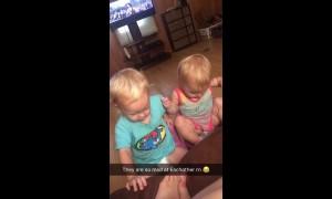 Hilarious argument between babies