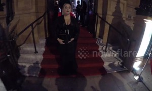 Hayley Hasselhoff and Ella Eyre arrive at Marie Claire Future Shapers Awards