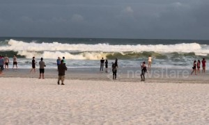 Waves roar on Pensacola Beach ahead of Michael's predicted Category 4 landfall