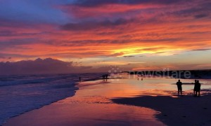 Stunning sunset graces Pensacola Beach ahead of Hurricane Michael