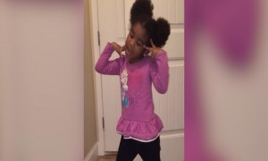 Adorable Girl Sings The National Anthem