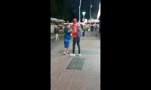 Moment brazen Magaluf 'street vendor' knocks out tourist