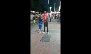 Moment brazen Magaluf 'street vendor' knocks out tourist
