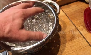 YouTuber shows off squishy gel beads that go invisible in water