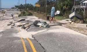 Resident films devastated coastal area in Florida