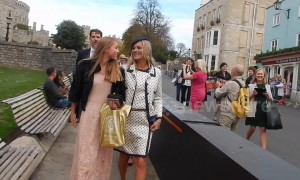 Kate Moss and daughter snapped leaving Windsor Castle after royal wedding