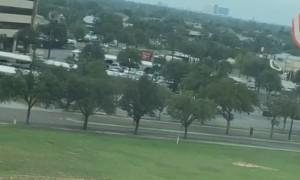 Plane Deploys Parachute During Crash Landing