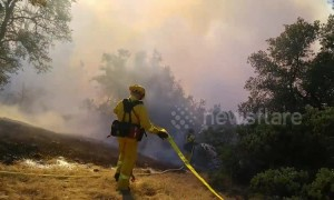 Firefighters battle 38-acre Masonic Fire