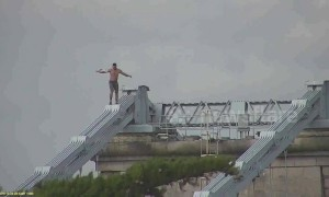 Man climbs 150ft bridge after being denied a drink in local pub