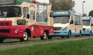 UK town sets Guinness World Record for largest ice cream truck convoy