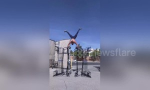 Balancing act: Nevada fitness guru performs incredible stunts in and outside the gym