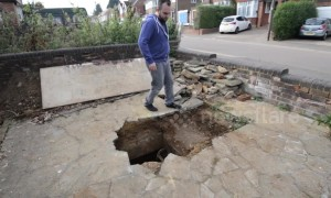 Man finds WWII air raid shelter beneath Luton driveway