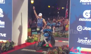 Brothers make history at grueling Ironman triathlon in Hawaii