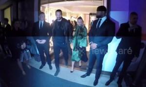 Rio Ferdinand and girlfriend Kate Wright attend Fendi event