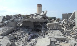 Aftermath footage shows destroyed building in Gaza after Israeli strikes