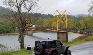 Bus Ignores Weight Limit on Bridge