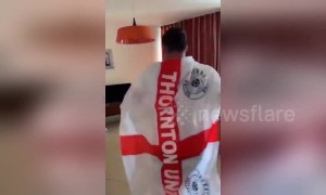 England football fans recreate magical scene from Matilda movie