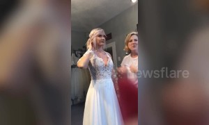 Bride-to-be donates her dream wedding to couple she has never met