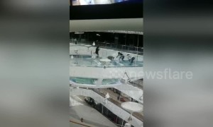 Woman falls into shark tank at Chinese mall