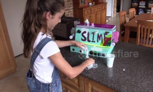 Kid inventor makes her very own slime ingredient dispensing machine